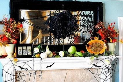 Chimeneas decoradas para Halloween 1