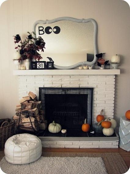 Chimeneas decoradas para Halloween 2