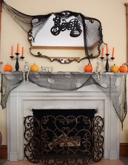 Chimeneas decoradas para Halloween 4