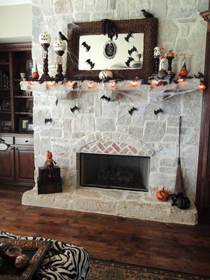 Chimeneas decoradas para Halloween 6
