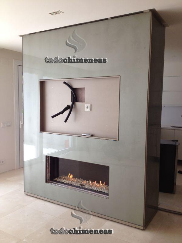 Crear ambientes con una chimenea a gas