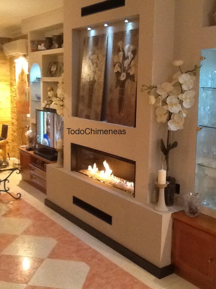 Montajes blog todo chimeneas for Muebles de pladur para salon fotos