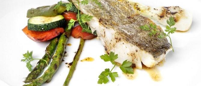 receta de bacalao con verdura a la parrilla