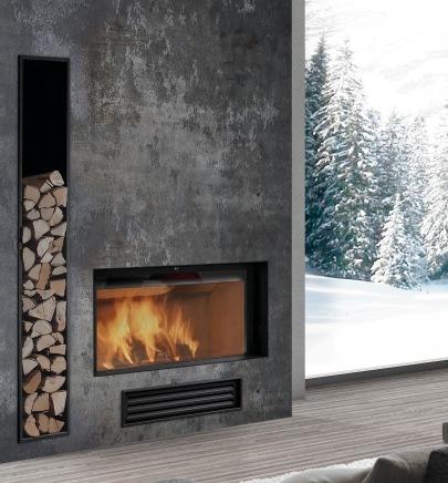 Leña para chimenea Hogar Rocal Modelo G-450 F