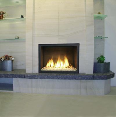 Chimenea a Gas Bodart&Gonay Argos In Fire composición marmol