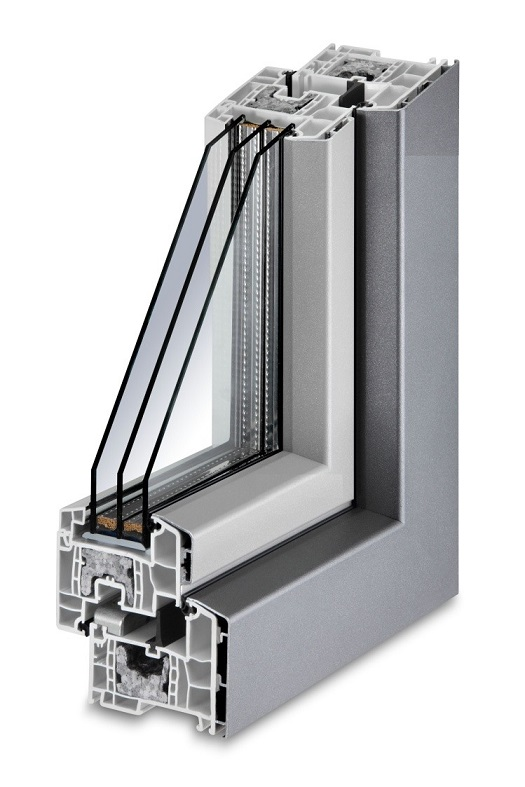 Doble acristalamiento ventana con triple acristalamiento