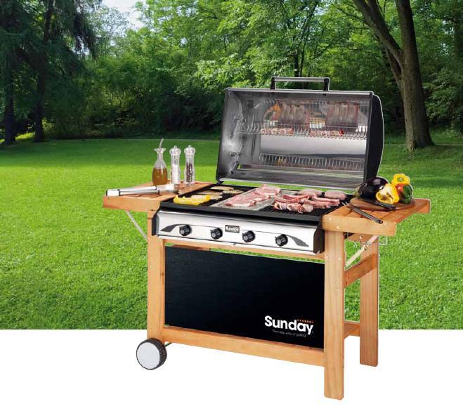 Puntos de cocinado de la carne - Barbacoa Mcz Profy 4 Inox Gas