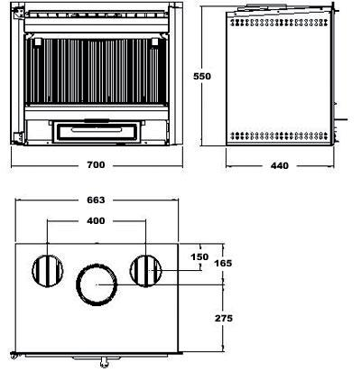 Insert Hergom C-10 esquema del aparato