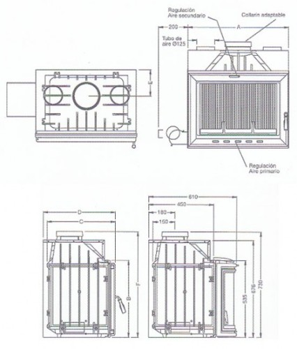 Casete Hergom H-03 - esquema y medidas