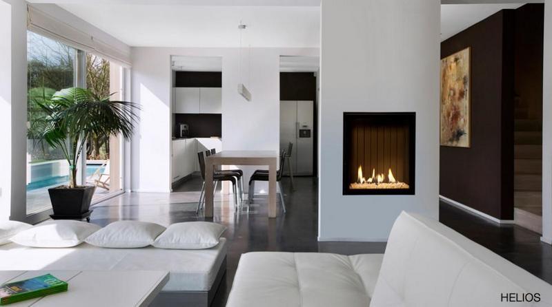 Chimenea Gas Helios de Bodart & Gonay - Equipo instalado en salón