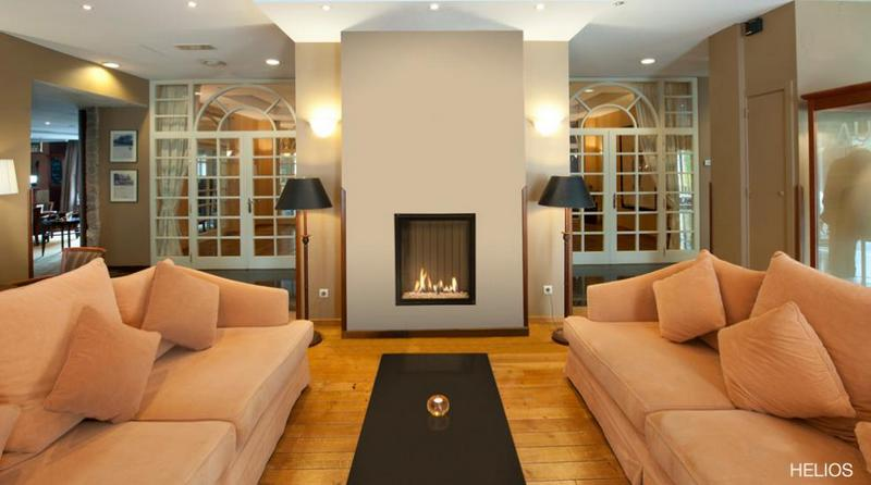 Chimenea Gas Helios de Bodart & Gonay - Equipo instalado en salón de reuniones
