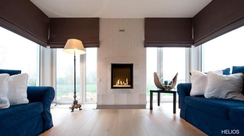 Chimenea Gas Helios de Bodart & Gonay - Equipo instalado en sala de estar