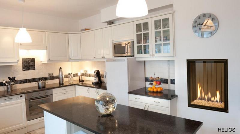 Chimenea Gas Helios de Bodart & Gonay - Equipo instalado en cocina