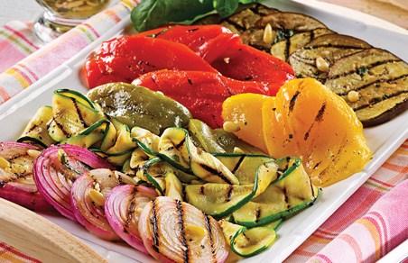 Receta a la parrilla - ensalada verduras asadas a la italiana