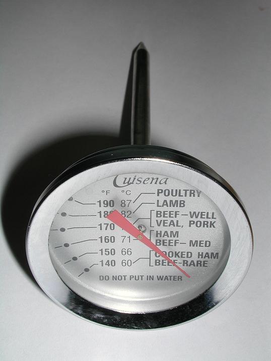 Puntos de cocinado de la carne - Termometro barbacoa analogico