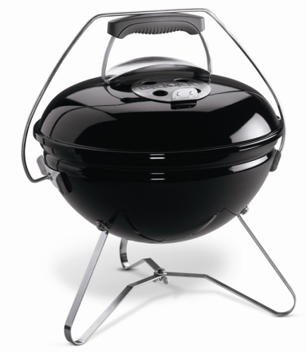 Vista frontal de la pequeña Barbacoa Weber Carbon Smokey Joe Premium