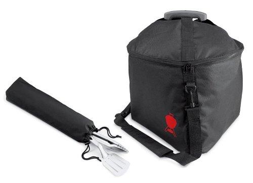 Maletín de transporte y utensilios opcionales de la Barbacoa Weber Carbon Smokey Joe Premium