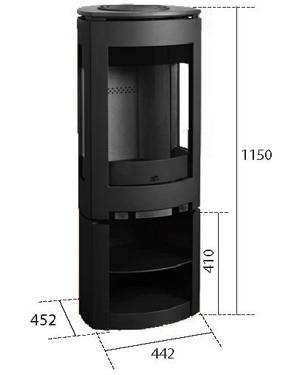 Estufa Jotul F-371 dimensiones y medidas