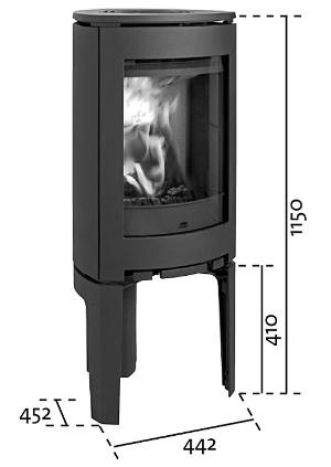 Dimensiones y medidas de la estufa Jotul F369