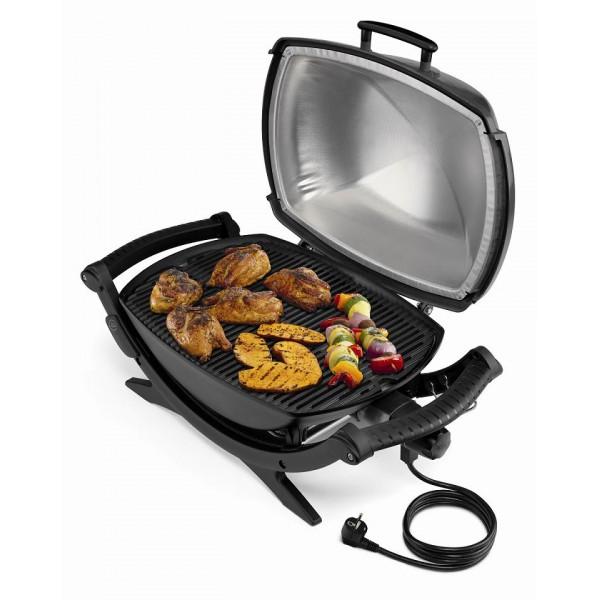 Pollo y verduras asadas en su punto y con todo el sabor - Barbacoa Weber Electrica Q240