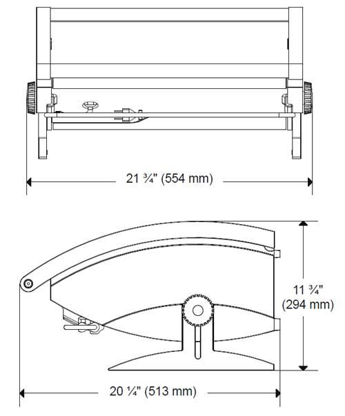 Medidas y dimensiones de la Barbacoa Dimplex Programable
