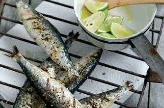 sardinas a la parrilla cocinadas