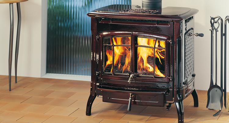 Estufa de leña para la calefacción - Estufa Hergom Bennington Marron