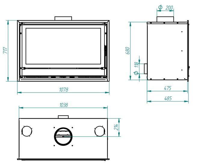 Casete Ferlux F 1000 - Esqema y dimensiones