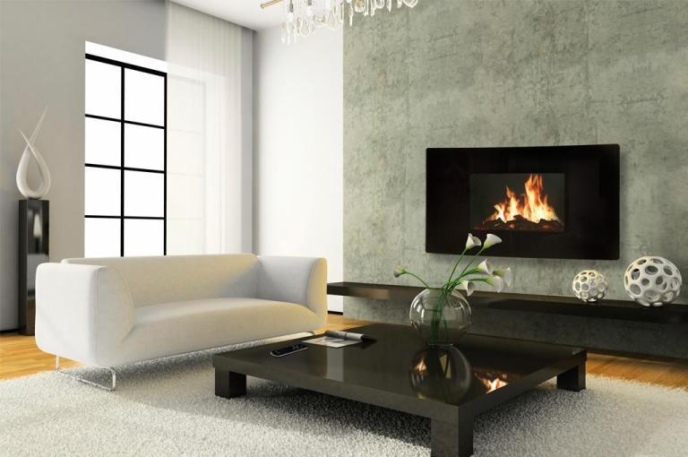 Efecto fuego como ejemplo de sistemas de calefacción eléctrica