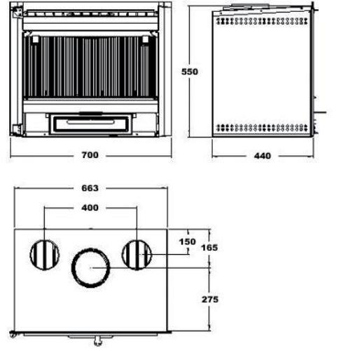 Casete Hergom C-10 - esquema y medidas