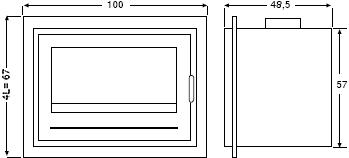 Esquema y medidas del Casete Salgueda Helios 900