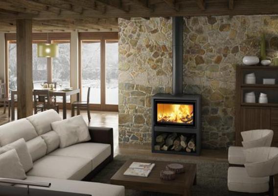 Casete Tnc Bio 80 RL instalada aportando calidez en una sala de estar