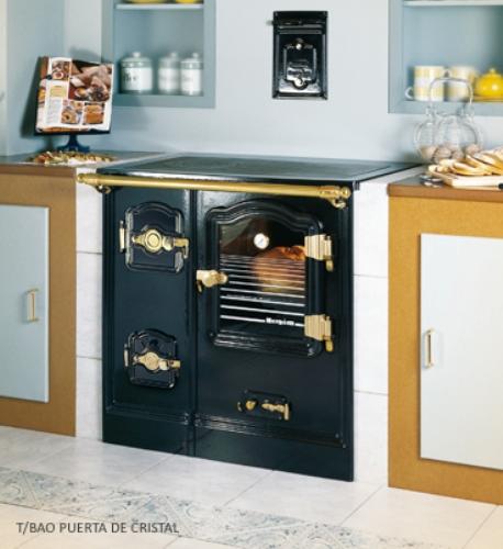 Cocina Hergom T-Bilbao 7 Carbon acabado con puerta de cristal
