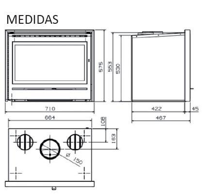 Casete Hergom C11 esquema y medidas