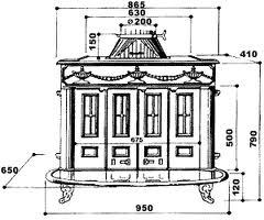 Estufa Franklin 82-Hergom medidas