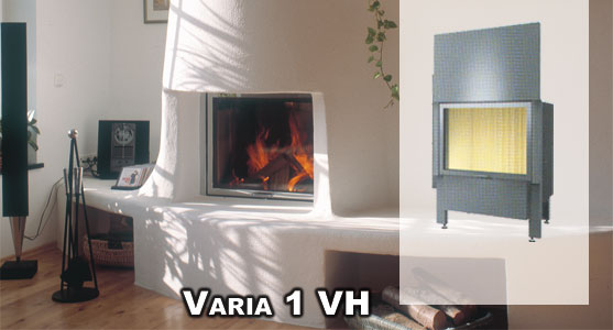 Hogar Hergom Varia 1vh empotrado en estructura de chimenea