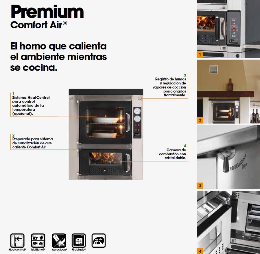 Horno Mcz Premium 60 Interior opciones y características de equipamiento