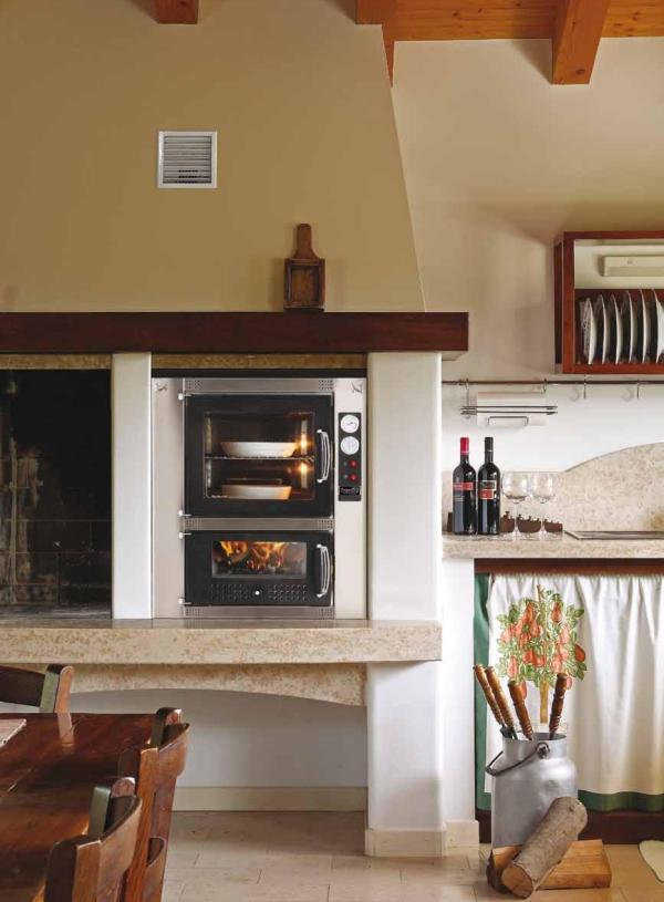 Horno Mcz Premium 60 Interior vista instalado en cocina tipo rustica