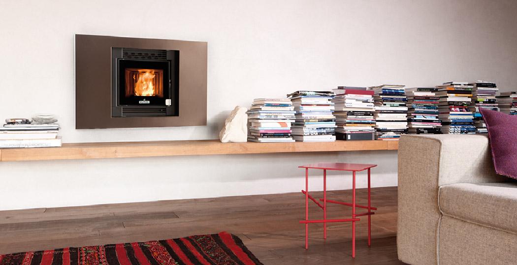 Casete Pellet Ecoteck 500 Instalación en libreria