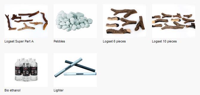 Estufa Bioetanol Ruby Fire Goya accesorios