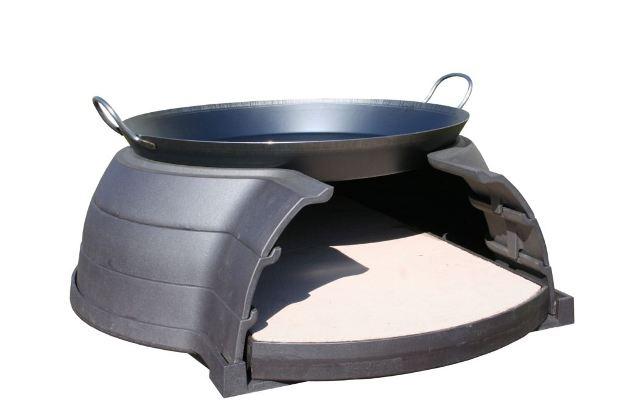 Horno Invicta Le Goustaou preparado para paella