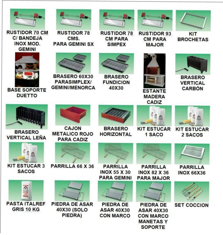 Accesorios disponibles para completar la Barbacoa Edilkamin Master