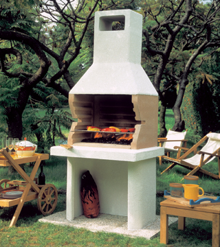 Barbacoa malaga blog todo chimeneas for Chimeneas de jardin
