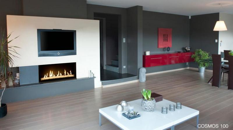 Chimenea Bodart&Gonay Cosmos 100 instalada en salon
