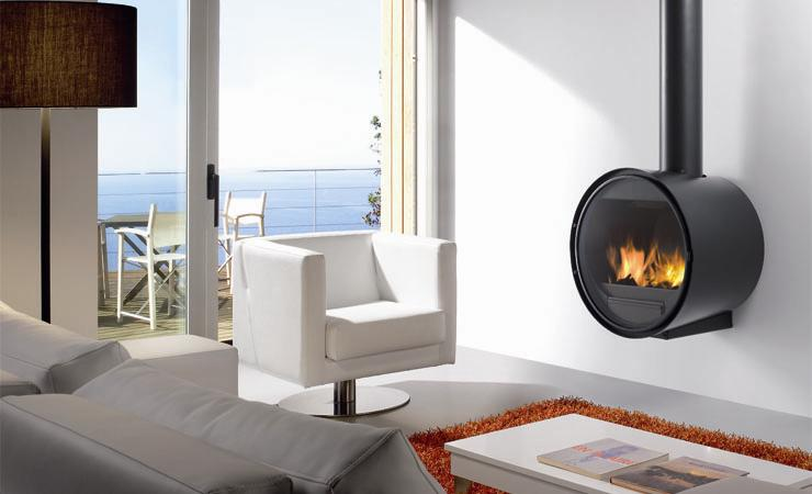 Chimenea Rocal D 7 instalada en salon