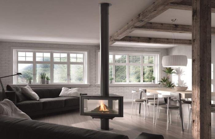 Chimenea Born Central Rocal la calidez y el confort que tu hogar necesita