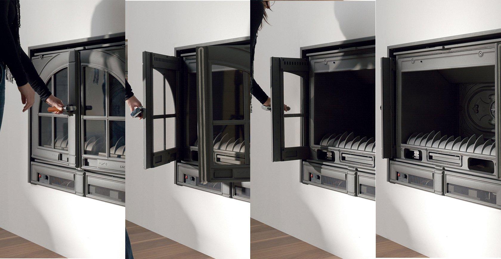 Sistema de escamoteo de puertas de la Casete Lacunza Abodi