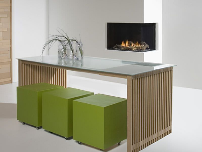 Chimenea Gas Faber Duet Premium L instalada en sala de estar