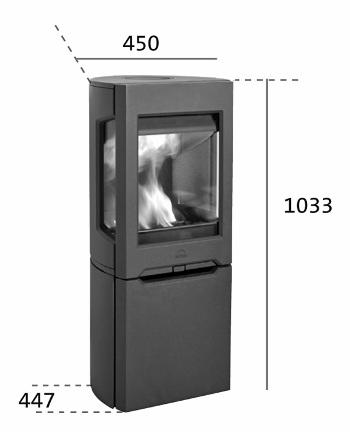 Medidas y esquema de la Estufa Jotul F 165