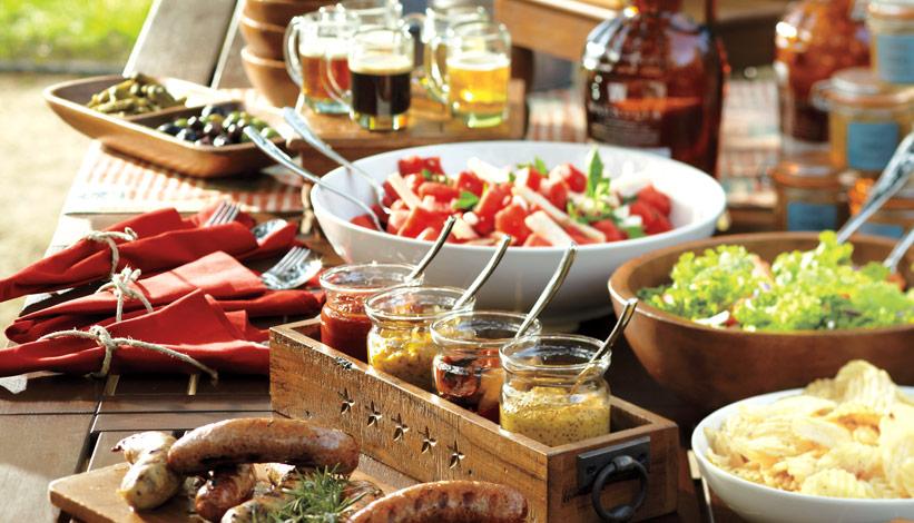 Mesa de ensaladas Fiesta de barbacoa planificar para triunfar